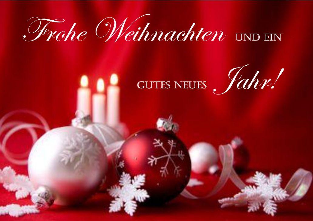 Herzliche Weihnachtsgrüße und alle guten Wünsche für ein erfolgreiches neues Jahr!